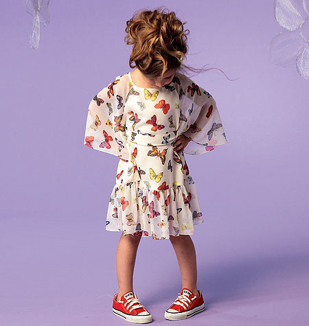 Butterfly sleeve flower girl dress: McCall's M6690