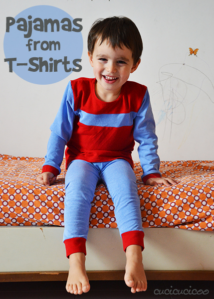 Sew pajamas from old T-shirts