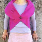 Oval Shawl Collar Sweater: a one-piece garment