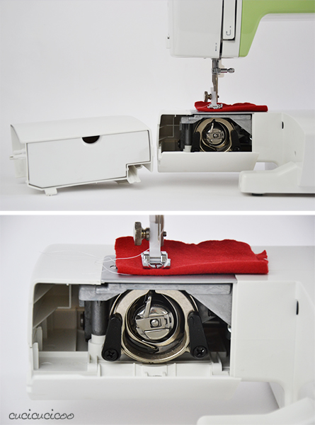 Learn to Machine Sew, Lesson 1: The Anatomy of a Sewing Machine - inserting the bobbin