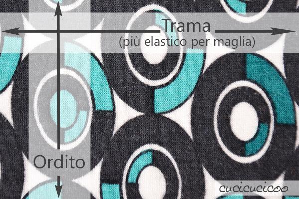 Impara dei tanti tipi di stoffa, capire le loro differenze e come meglio usarli! Una lezione del corso gratuito per principianti Impara a Cucire a Macchina di www.cucicucicoo.com! (trama e ordito)