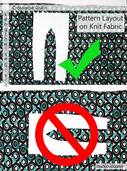 Learn all about the many different types of fabric, understand how they differ and how to best use them! A cucicucicoo.com Learn to Machine Sew lesson! (pattern layout on knit fabric)