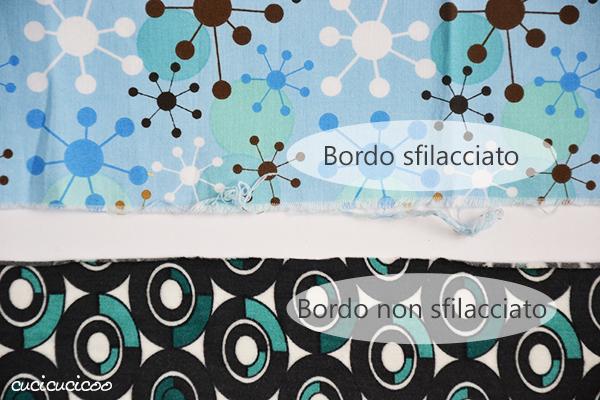 Impara dei tanti tipi di stoffa, capire le loro differenze e come meglio usarli! Una lezione del corso gratuito per principianti Impara a Cucire a Macchina di www.cucicucicoo.com! (bordi sfilacciati)