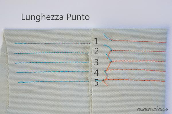 Impara a cucire a macchina, lezione 3: Come fare il punto dritto - lunghezza punto