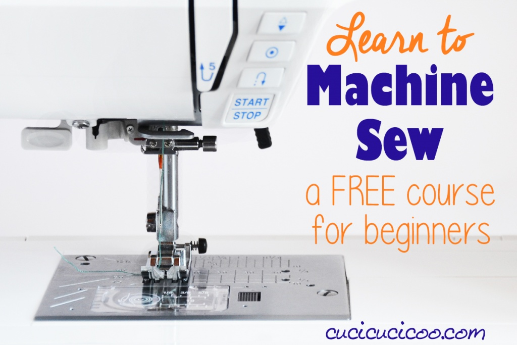 Learn to machine sew with the Cucicucicoo FREE sewing course for beginners! Each lesson has a practical tutorial to use the new technique to make something you'll love! #sewingcourse #sewing101