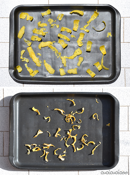 How to make easy and quick sun dried lemon peels on the balcony