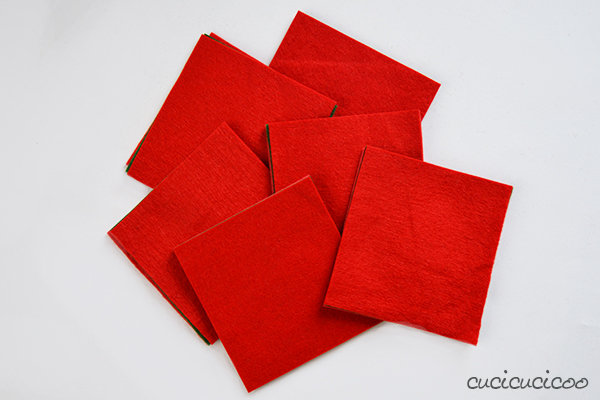 Seam Allowance Practice Tutorial: Simple Felt Coasters with Reverse Applique