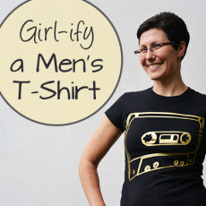 Refashion Tutorial: Girlify a men's t-shirt: making t-shirts more femminine