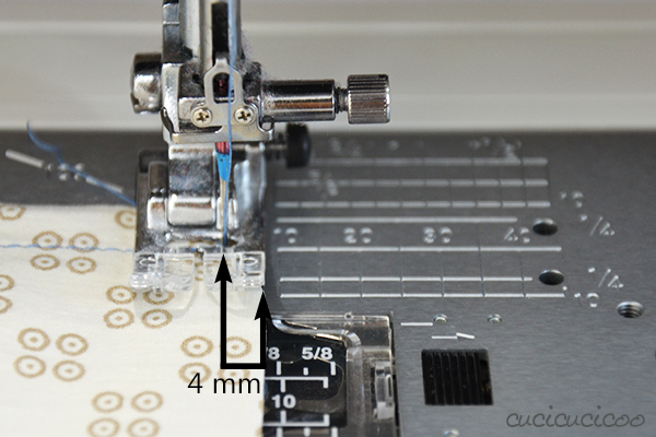 Learn to Machine Sew: Sewing with Seam Allowances. Changing needle position for small seam allowances.