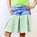 Tutorial: Make a box pleated skirt from jeans and sheets