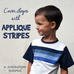 Refashioning Tutorial: How to cover up logos on clothes with applique stripes