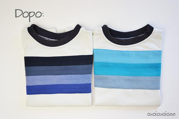 Tutorial refashion: Come coprire un logo sui vestiti con strisce applicate