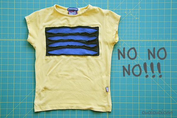 Tutorial: Decora una t-shirt con magliette tagliate applicate (reverse applique)