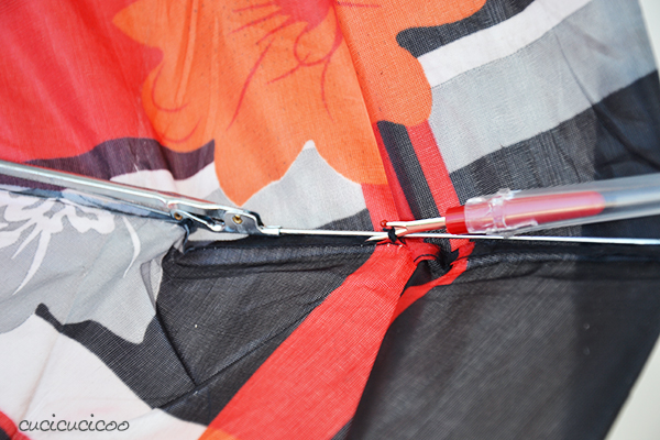 Tutorial: How to remove fabric from umbrellas | www.cucicucicoo.com