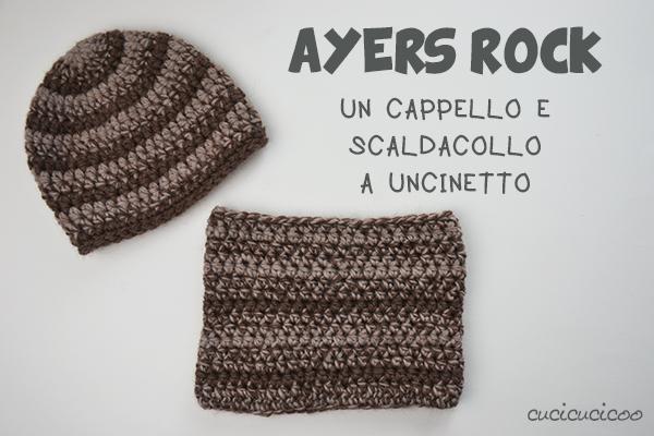 Cappelli a uncinetto: lo schemaAyer's Rock e un basco largo | www.cucicucicoo.com