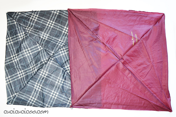 How to make a waterproof picnic blanket from umbrella fabric and a sheet! Have eco-friendly fun in the great outdoors without getting damp bums! #diypicnicblanket #outdoorsewing