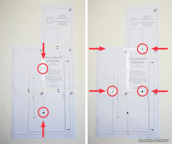 How to print and assemble PDF sewing patterns, to get them ready for cutting fabric! | www.cucicucicoo.com