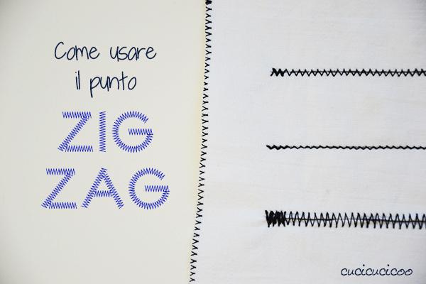 Impara a Cucire a Macchina: Come fare il punto zig zag | www.cucicucicoo.com