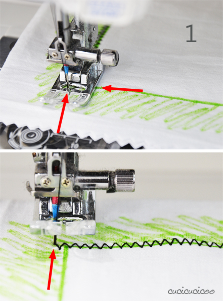 Learn to Machine Sew: How to Zig Zag Stitch | www.cucicucicoo.com