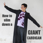 Sweater refashion tutorial: cardigan slim down