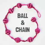 Ball & Chain: a free crochet necklace pattern