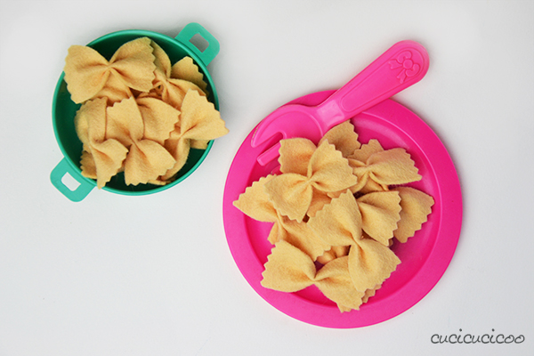 Tutorial: farfalle pasta in pannolenci... con scatola scaricabile!