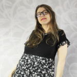 A Flowy and Flowery T-Shirt Dress Refashion