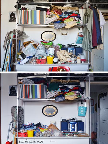 La mia stanza per il cucito e i craft: prima e dopo. www.cucicucicoo.com