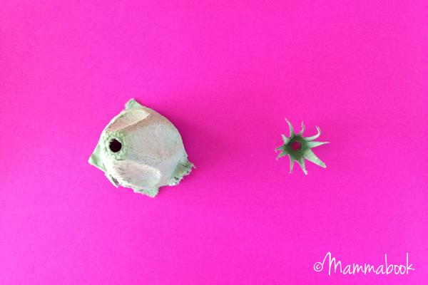 Tutorial DIY: Come fare Fatine dei Fiori con un cartone delle uova recuperato | un tutorial Mammabook per www.cucicucicoo.com
