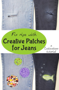 Fix rips with creative patches for jeans: a Cucicucicoo tutorial | www.cucicucicoo.com