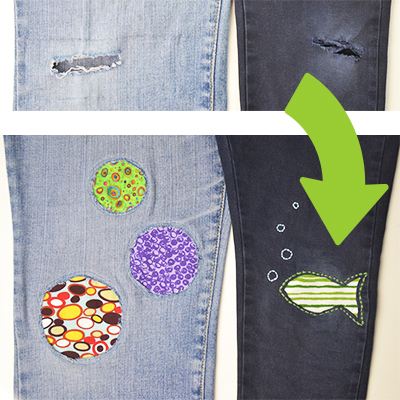 Creative patches for jeans