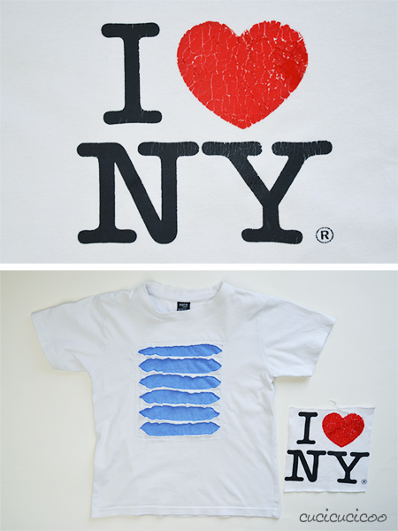 I love NY t-shirt refashion | www.cucicucicoo.com