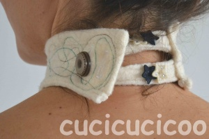 choker-style necklace made from felted wool scraps | www.cucicucicoo.com