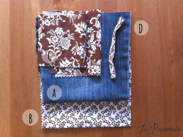 Fai-da-te: Mini pochette da jeans riciclati. Un tutorial di Le Pecionate per www.cucicucicoo.com
