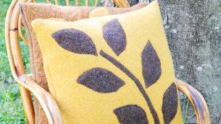 Come cucire un cuscino di lana infeltrita
