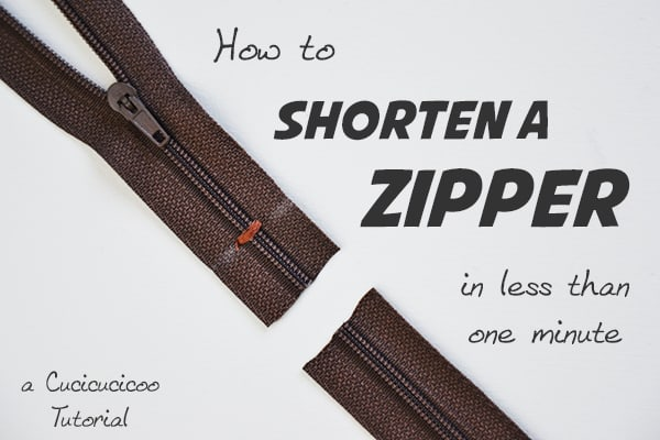 How to shorten a zipper in less than two minutes! A mini-tutorial on www.cucicucicoo.com