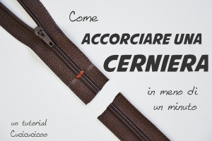 Come accorciare una cerniera in meno di un minuto! Un mini-tutorial di www.cucicucicoo.com