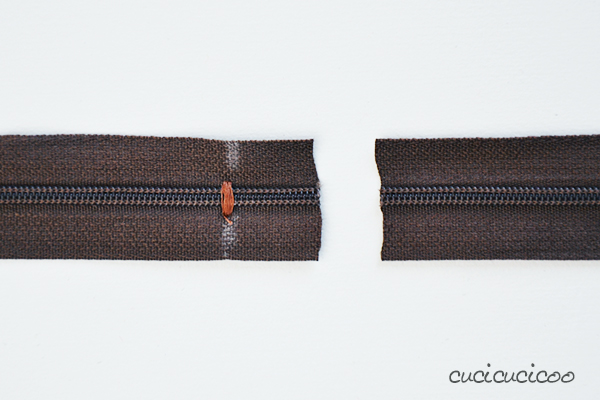 How to shorten a zipper in less than one minute! A mini-tutorial on www.cucicucicoo.com