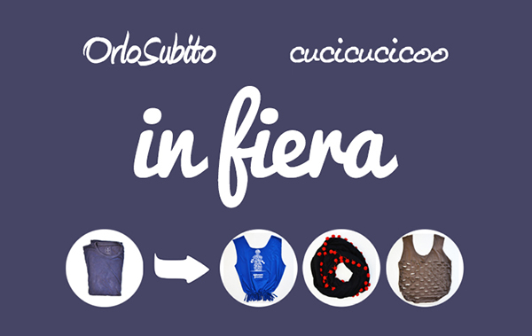 """""""The Reborn T-Shirt"""" and other refashioning/upcycling sewing workshops by OrloSubito and Cucicucicoo. Contribute at least €2 to choose among lots of great eco-friendly rewards, discounts and free tickets! More details on www.cucicucicoo.com"""