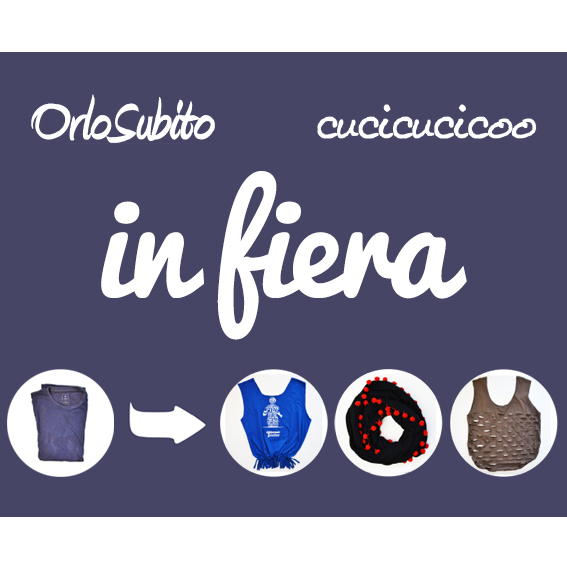"""The Reborn T-Shirt"" and other refashioning/upcycling sewing workshops by OrloSubito and Cucicucicoo. Contribute at least €2 to choose among lots of great eco-friendly rewards, discounts and free tickets! More details on www.cucicucicoo.com"