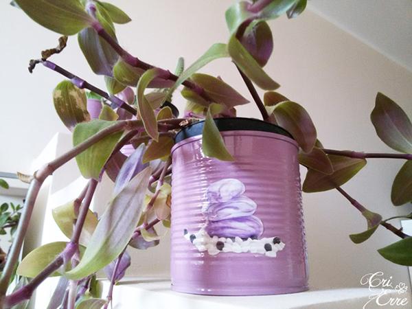 Come fare dei vasetti per piante fai da te da lattine recuperate | Cri Erre Handmade per www.cucicucicoo.com