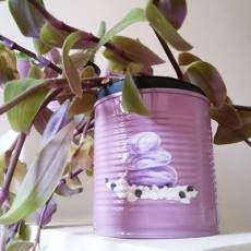 How to make personalized DIY flower pots from tin cans   Cri Erre Handmade for www.cucicucicoo.com