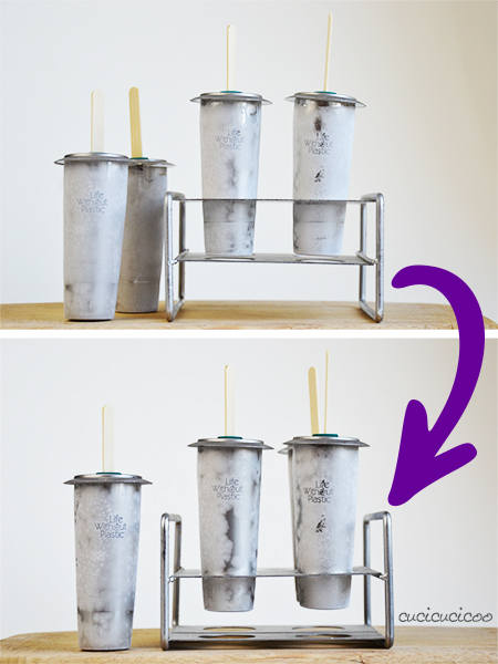 How to make healthy DIY popsicles: a fun and no-guilt way to cool down with kids in the summer! Freezy Cup stainless steel popsicle molds. www.cucicucicoo.com