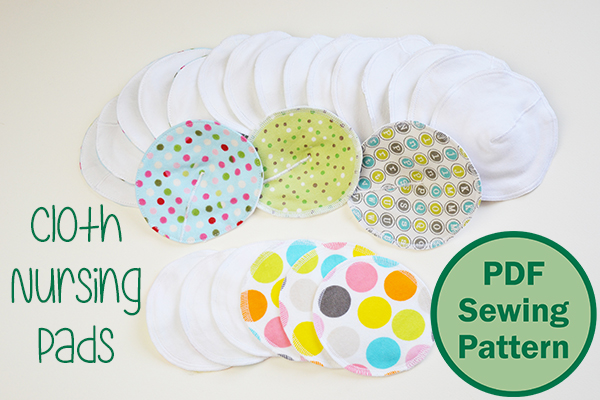 Cloth Nursing Pads for a natural approach to breastfeeding. A PDF sewing pattern by Cucicucicoo Patterns