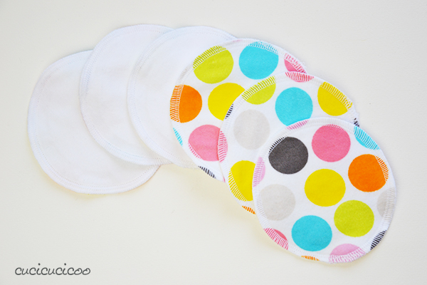 Flat Cloth Nursing Pads for a natural approach to breastfeeding. A PDF sewing pattern by Cucicucicoo Patterns