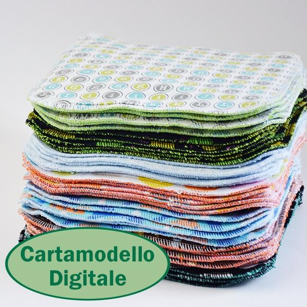 Cartamodello PDF digitale per salviette lavabili per il cambio del pannolino. Cucicucicoo Patterns: www.cucicucicoo.com