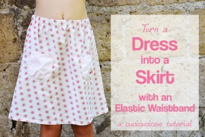 Dress to skirt refashion 2