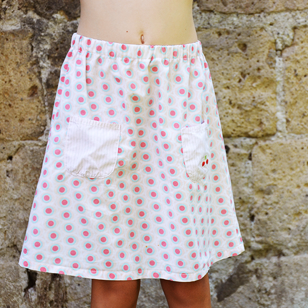 Refashion tutorial: Turn a dress into a skirt with a comfortable elastic waistband - www.cucicucicoo.com