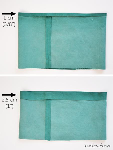 """Come cucire una coulisse (per girovita elasticizzato). Parte della serie """"Impara a Cucire a Macchina"""" su www.cucicucicoo.com!"""