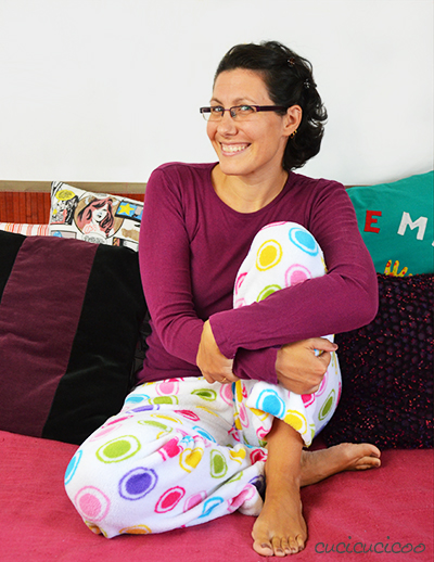 PDF sewing pattern: Evening Primrose Pajama Pants for women by Cucicucicoo Patterns - fleece pants - www.cucicucicoo.com